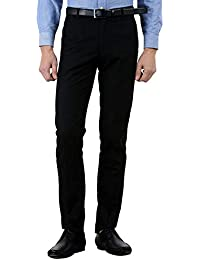 American-Elm Men's Poly Cotton Slim Fit Formal Trouser