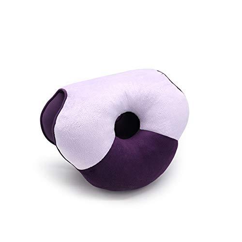 Cojín de Asiento para aliviar la Espalda, ciática, Dolor en el Hueso de la Cola, cojín de Asiento de cóccix, Ideal para Sentarse de Forma Prolongada,Purple
