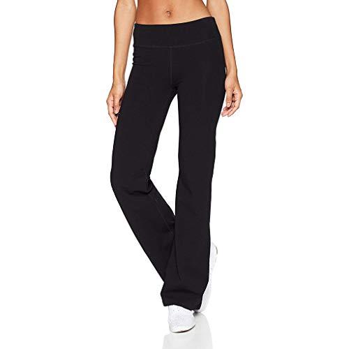 Haludock Frauen beiläufige Normallack-dünne Hüften lösen Yogahosen-breite Bein-Sport-Hosen-Hüften-hohe Taillen-elastische und atmungsaktive Sporthose -