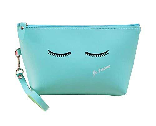 Classique Fashionable Maquillage Case Cosmetic Bag Pour Femmes Filles, Bleu