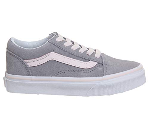 Vans Kids Old Skool -Fall 2018-(VN0A38HBU4B1) - (Suede) Alloy/h Cinzento - 10.5C