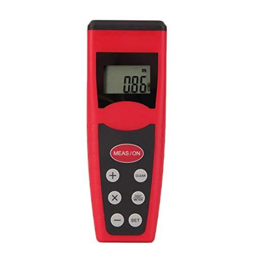 Unique Leichtgewichtler-tragbarer Ultraschallmaß-Entfernungsmesser-Messgerät-Zeiger-Entfernungsmesser Rangefind CP3000 schönes Rot