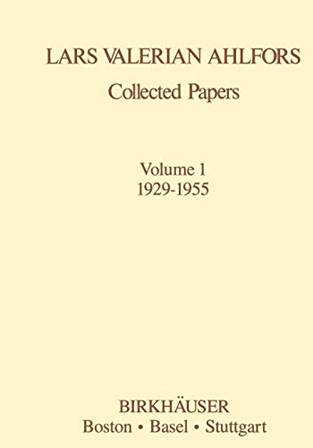 Collected Papers Volume 1: 1929-1955 (Contemporary Mathematicians)