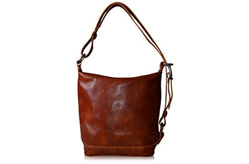 Bags & Arts Sac porté épaule Italien Cuir Véritable Sac Style Seau Unisex