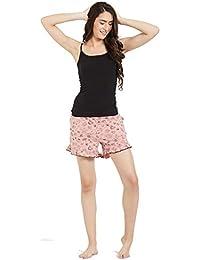 Mystere Paris Jungle Doodle Print Shorts Cotton Sleepwear Nightwear  Loungewear Casual Women Ladies Pink F332D 0f9657e0e