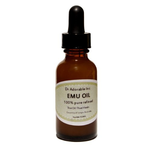 CREAMY EMU OIL BY DR.ADORABLE 100% PURE ORGANIC NATURAL 0.5 OZ WITH GLASS DROPPER