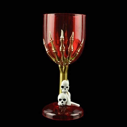 Kostüm Milch Knochen - Halloween Tasse, Requisiten Kunststoff Skelett Becher Horror Dekorationen Tasse Zum Bar KTV-Ghost Claw Cup