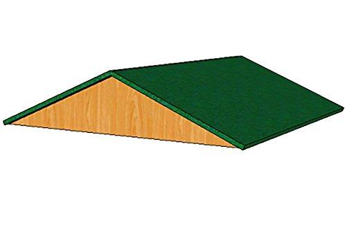 Toit amovible 100x100 cm pour enclos Poules shingle vert