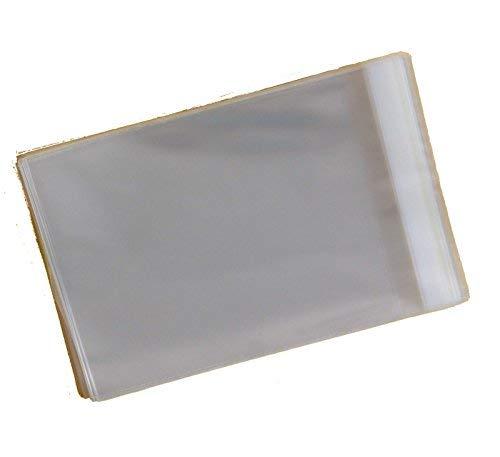 Zellophan-Hüllen zur Aufbewahrung von Grußkarten, C6, 120 x 162 mm, 30 mm Lasche, 250 Stück