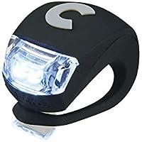 Micro Light Deluxe - Luz Deluxe Blanca para Patinete Bicicleta Infantil. Fija o Intermitente (Negro)