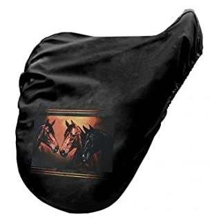 Saddlecloth Saddle cover with Print - Horse Horse Bertha - 07064 black - Collection Bötzel