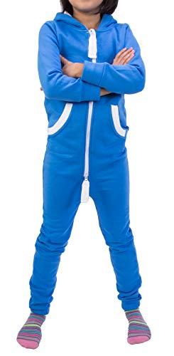 Rock Creek Kinder Jumpsuits Overall Jogger Onesie Jumpsuit Anzug Sportanzug Pyjama Fleecejumpsuit Jungen Mädchen D-385 Blau 110-116 -