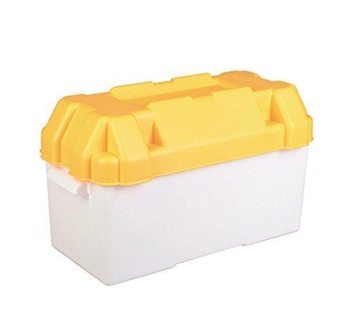 Caravan Yellow 110amp Leisure Battery Holding Box Large Test