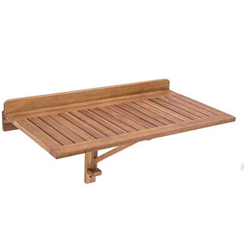 Mesa de terraza Plegable Madera marrón Garden - LOLAhome