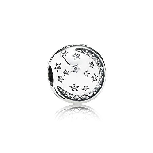 Pandora Silber Charm Funkelnde Nacht 791386CZ (Charms Pandora Silber)