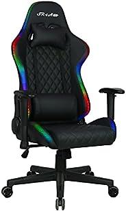 كرسي العاب جيمنج لون اسود بإضاءة ليد جانبية