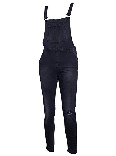 CIMARRON Damen Jeans Hose Regular Fit gerades Bein - Baumwolle - schwarz J53 oslo S