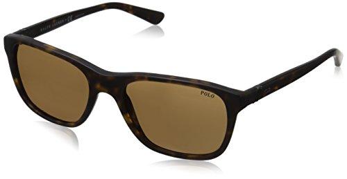 Ralph lauren polo occhiali da sole mod. 4085 8273 (55 mm) matte dark havana/dark brown, 55