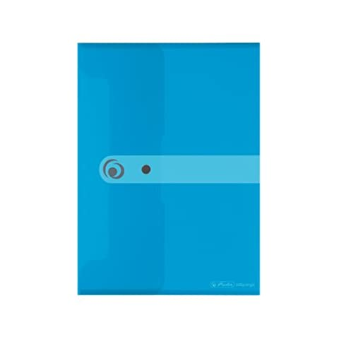 Herlitz 11207073 Dokumententasche 6er Pack PP A5 blau transparent