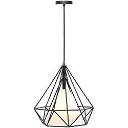 Lámpara Iluminación colgante moderna jaula vintage candelabro Rosca E27 para el Restaurante Dormitorio Sala de Estudio Loft Pasillo 45285