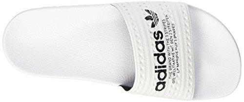 adidas Adilette Slipper, Scarpe da Spiaggia e Piscina Uomo Bianco (Ftwr White/Ftwr White/Core BlackFtwr White/Ftwr White/Core Black)