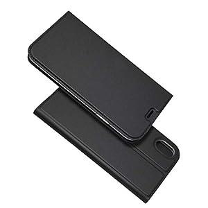 BoxTii iPhone XR Hülle, Magnetisch Dünn Edles Leder Schutzhülle mit Frei Panzerglas Displayschutzfolie für Apple iPhone XR