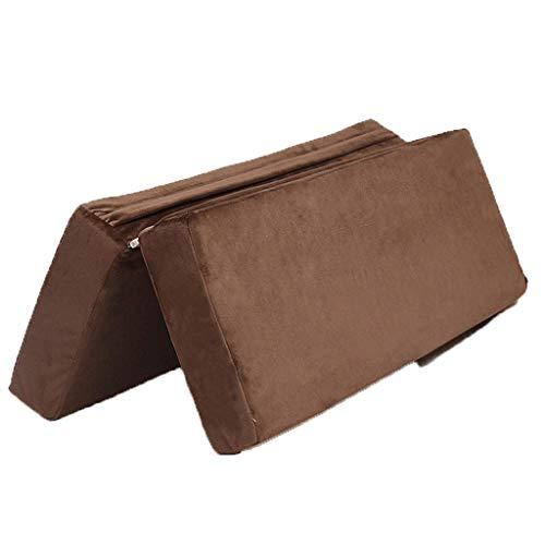 Épaule De Yoga Oreiller De Yoga En Coton Et Lin Pliable Accessoires De Yoga Carrés (Color : Brown)