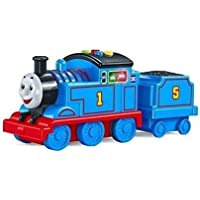 TEMSON Friction Powered Battery Operated Thomas & Friends Adventures, Large Push Along James Train Engine Toy for Kids