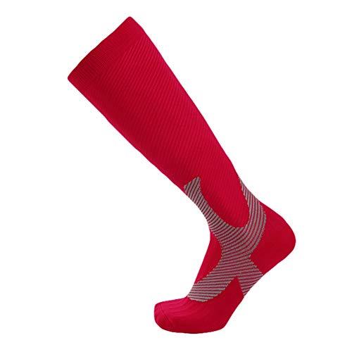 Zdmathe Sports Socks Football Leggings Running Pressure Compression Male Female Outdoor Long Tube Knee Shaping Soft Absorbent Training Socks High Heel Wrap-around