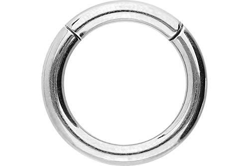 PIERCINGLINE Chirurgenstahl Segmentring Clicker | silberfarben | Piercing ✔ Ring ✔ Septum ✔ Helix ✔ Tragus ✔