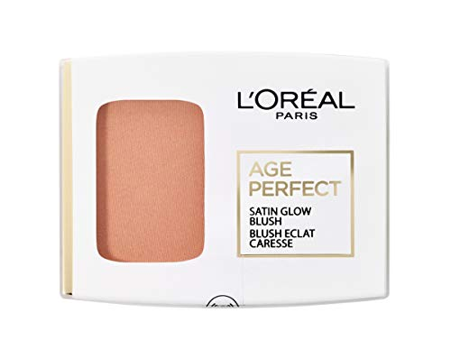 L'Oréal Paris Age Perfect Satin seidiges Puder-Rouge in Nr. 110 aprikot/peach, für eine natürliche Frische im Gesicht, 5 g - Make-up Perfect Rouge