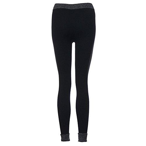 ★★2017 Ularmo® Femmes Yoga Pants Fitness Aptitude Leggings Taille Haute Patchwork Maigre Faire Monter Tondu Sport Pantalon ★★ Noir