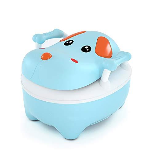 RLF LF Karikatur-Kindertoilette Töpfchen Rutschfester Trainingssitz für Baby Anti-Rutsch-Silikon-Fußkissen Harnspritzer vermeiden, Gewicht, das 60KG trägt, Square Oval Toiletten für Kinder,Blue