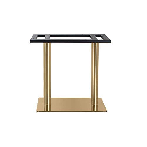 WaiMin Möbelstützfuß Edelstahl vergoldet Western Restaurant Tischbeine einfacher Esstisch runde Sockel Tischbeine Metallbügel Tischbeine - Runde Sockel-esstisch