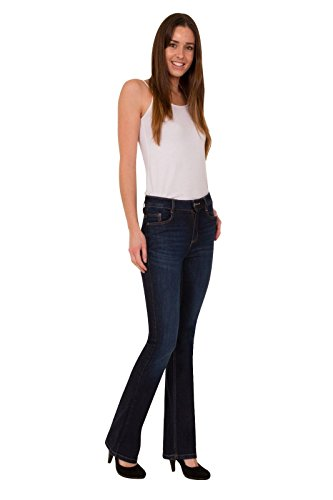 FashionLabels4Less Ex High Street Brand 6349 Ladies Slimboot Leg Denim Jeans Added Stretch