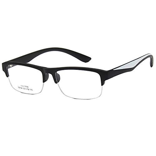 Fansport Lesebrille Halber Rahmen Klare Linsen Brillen FüR Erwachsene