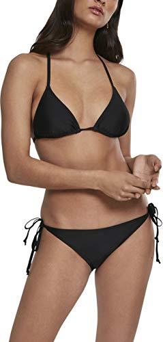 Urban Classics Damen Ladies Side Knot Triangle Bikini-Set, Schwarz (Black 00007), S