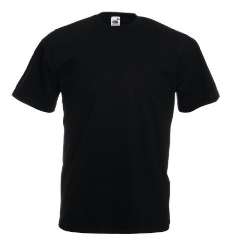 Valueweight T-Shirt von Fruit of the Loom Schwarz XXXL (ärmel 3 Damen T-shirts 4)