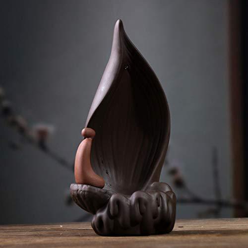 Rückfluss-Räucherstäbchenbrenner mit 10 Rückfluss-Räucherkegel, Keramik, Zen-Rückflussräucherstäbchenhalter, Brenner
