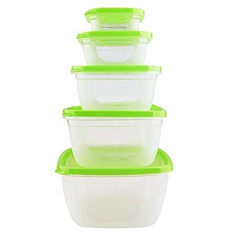Set de 5 Plats Congélation, boîtes alimentaires hermétiques + 5