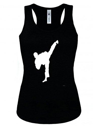 (Tank Top Karate- Sidekick- Muay Thai- Thai Boxen- Martial Arts- KÄMPFER- Krieger- Mann- Kick- Menschen- TAE BO- Silhouette für Herren und Damen)