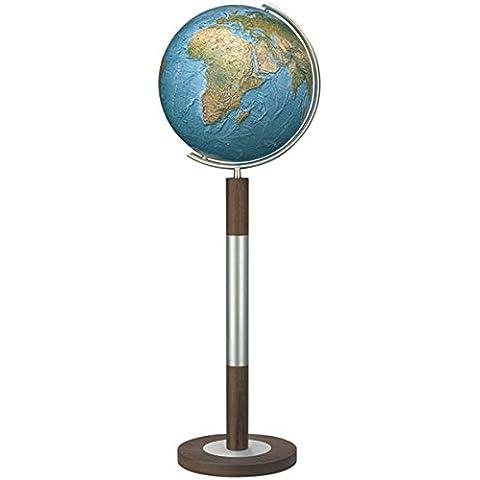 Columbus DUORAMA–Mappamondo luminoso con base da pavimento, modello Imperator: 40cm di diametro. Sfera in vetro (Metallo Meridiana)