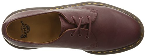 Dr.Martens Womens 1461 3 Eyelet Virginia Leather Shoes Red