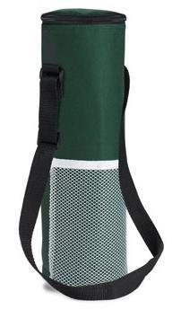 Borsa frigo per una 1,5 litro bottiglia - nylon verde/kaki - 10,5 x 34,5 cm