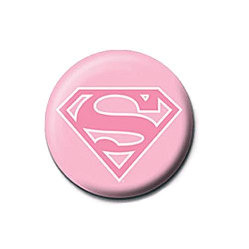 Pritties Accessories Echte DC Comics Supergirl Classic Logo Rosa Taste Abzeichen Stift Retro