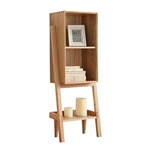 Eiche Runde Bücherregal Schrank (Xilinshop Einfaches modernes Bücherregal, Wohnzimmer, Arbeitszimmer, Schrank, dekorative Holzmöbel (ursprüngliche Holzfarbe) (Color : B))