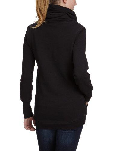 Paul Frank French Terry Sweat-shirt à capuche et col haut pour femme Noir - noir