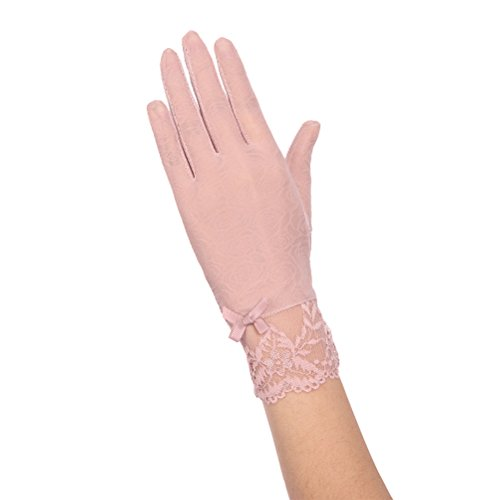 Nanxson(TM) Gants Dentelle Avec Fleurs Antisolaire Été Pour Femmes ST0068 F rose clair