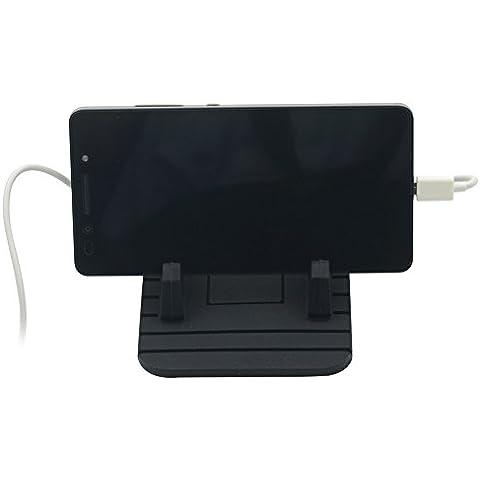 Universale per stent, Supporto Pad in Silicone–Tappetino antiscivolo per Auto Cradle Dock con micro cavo di ricarica per Samsung S7/S6/s5/iPhone 5/5S/6/6S Plus/7/7PLUS e GPS