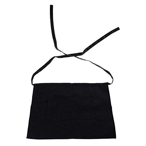 Pixnor grembiule corto con tasca nero